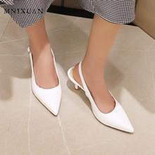 MNIXUAN Fashion women pumps sandals shoes kitten heels 2020