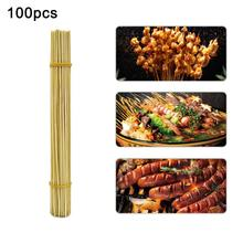 100pcs 30cm Kitchen BBQ Disposable Bamboo Roasting Sticks Barbecue Meat Skewers Tools Cookware