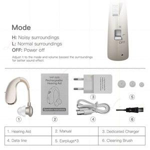 Image 5 - Mini recarregável digital aparelho auditivo amplificadores de som sem fio próteses auditivas para idosos moderado a grave perda transporte da gota