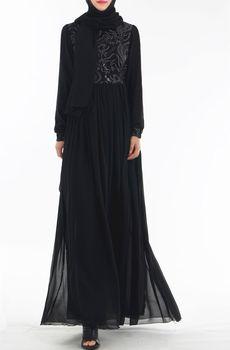Muslim Dress Women Bangladesh Turkey Abaya Dubai Long Sleeves Islamic Clothing Elegant Lace Muslim Fashion