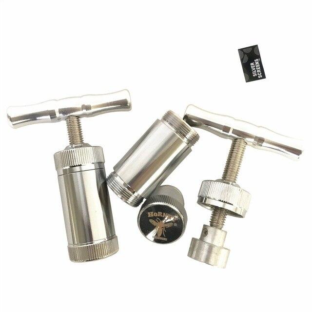 Compresseur pressoir à Pollen en aluminium | Presse à épices broyeur à herbes, tabac, broyeurs à main, accessoires