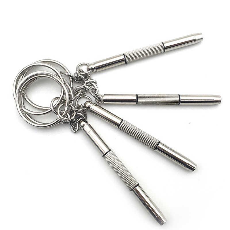 1PC Kacamata Obeng Sunglass Perbaikan Kit Populer 3 In1 Alat Tangan dengan Gantungan Kunci Profesional Multifungsi Menonton Hot Dijual