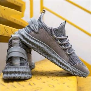 2020 New Hot Sales Men Sneakers Breathable Lace Up Men Mesh Shoes Fashion Casual No-slip Men Vulcanize Shoes Tenis Masculino
