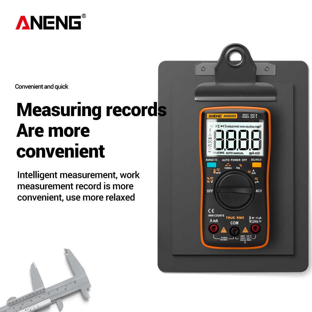 Aneng AN8009 真の実効値デジタルマルチメータトランジスタテスターコンデンサテスター自動車電気容量メーター温度ダイオード