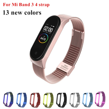 Mi Band 3 4 Wrist Strap Metal Screwless Stainless Steel For Xiaomi Mi Band 4 3 Strap Bracelet Miband 4 3 Wristbands Pulseira холодильник side by side hitachi r s 702 gpu2 gbk