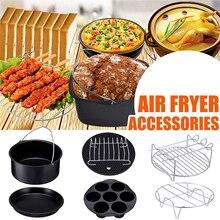 Grill-Pot Air-Fryer-Accessories-Set Pizza-Plate Baking-Basket Deep-Fryer-Parts Kitchen