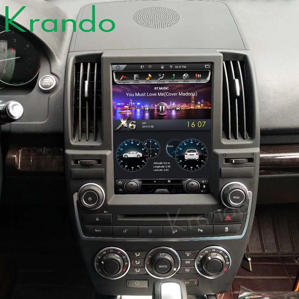 "Krando Android 8.1 10.4 ""/13.6'' 4 + 32gb intégré carplay tesla style autoradio Vertical pour Land Rover freelander 2 multimédia"