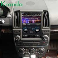 Krando Android 8,1 de 10,4 /13,6 4 + 32gb construido en carplay tesla estilo Vertical radio del coche para Land Rover freelander 2 multimedia