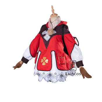 Genshin Impact Cosplay Klee Dress Backpack Cosplay Costume Uniform Game Suit Halloween Party Outfit Women 2