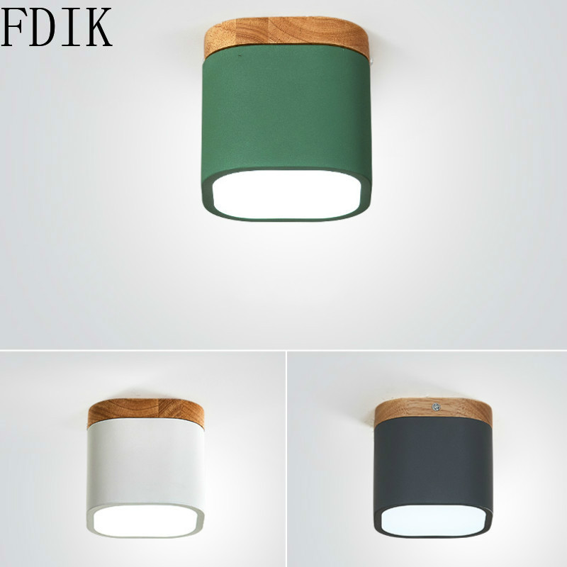 Nordic Balcony Iron Ceiling Lamp Modern