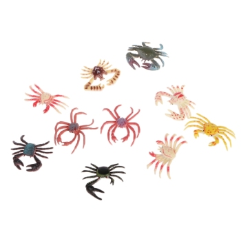 Simulation Animals Crab Model Ocean Beach Life Party Bag Fillers Kids Toys Gift R9UE недорого