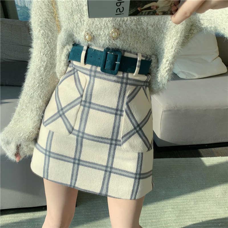Casual Basic Mode Alle Match Plaid Vintage Onregelmatige Hoge Taille College Wind 2018 Nieuwe Mode Vrouwelijke Vrouwen Mini Rokken