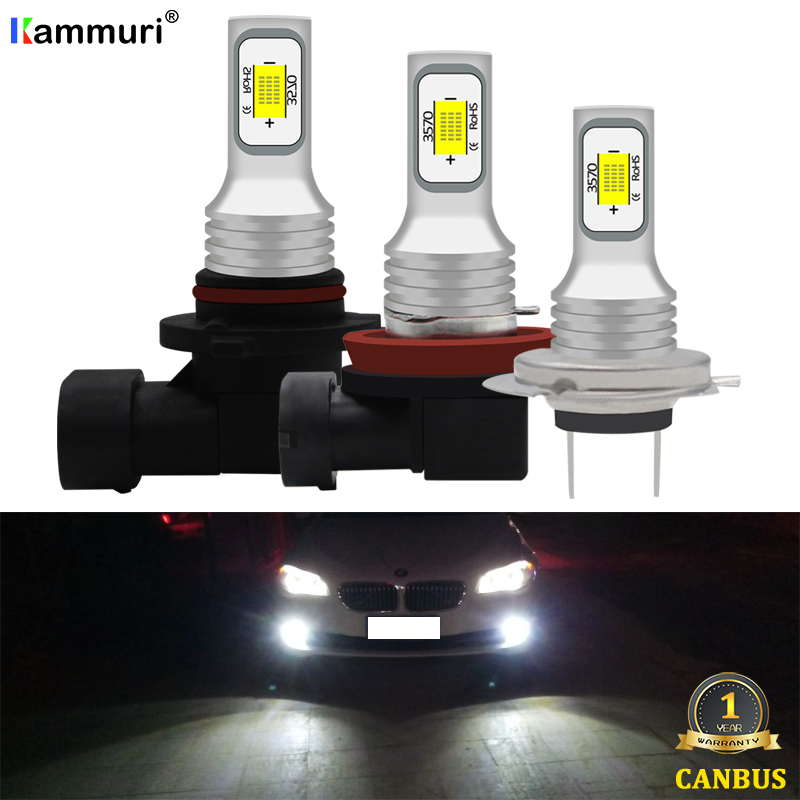 KAMMURI (2) No Error 9006 HB4 H8 H11 H7 LED Bulb For BMW X1 F48 E60 E63 E64 E46 E87 E39 Led Fog Driving Lights Lamp 3000k Golden