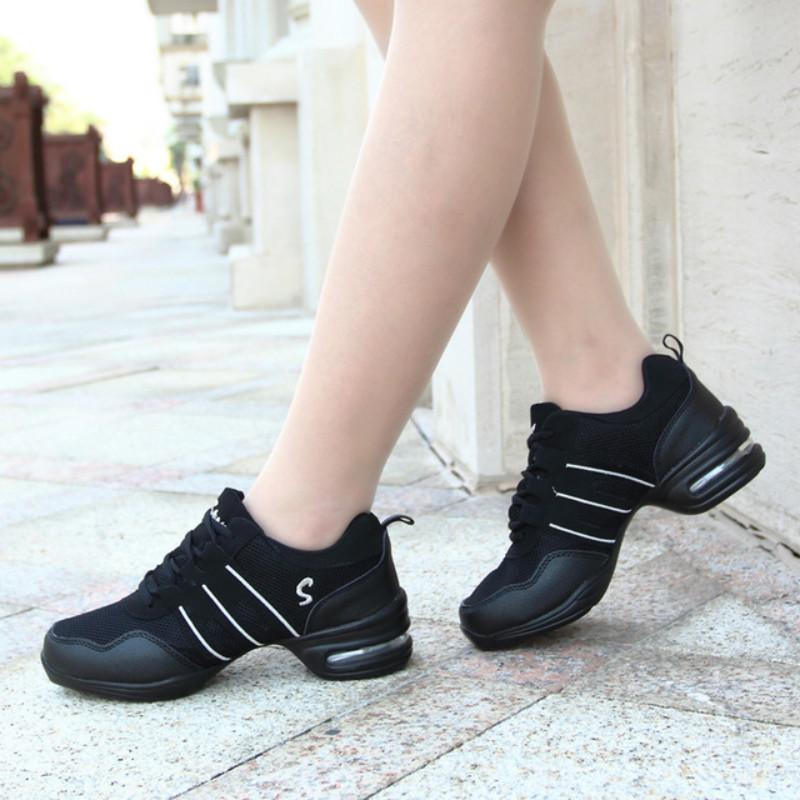 Dancing Shoes For Women Sports Feature Modern Dance Jazz  Soft Outsole Breath   Female Waltz Sneakers Size 28 44