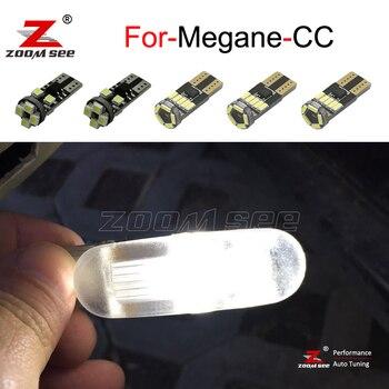 10 piezas de coche Canbus, bombilla LED de lectura en el maletero, Kit de luz de techo para Renault Megane CC ( 2010-2016)