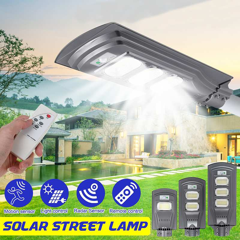 50W 100W 150W LED Solar Street Light With Timing Remote Control Light Control Radar Sensor For Outdoor Solar Wall Lamps Lighting