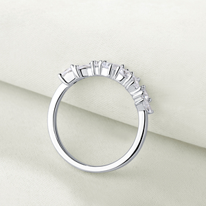 Image 3 - Newshe 925 스털링 실버 불규칙한 흰색 AAA 큐빅 지르코니아 웨딩 약혼 반지 여성 성격 보석 선물