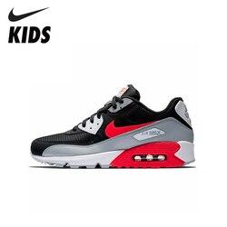Новинка; оригинальные детские кроссовки для бега с воздушной подушкой; удобные спортивные кроссовки для бега; Nike Air Max 90; # AJ1285-012