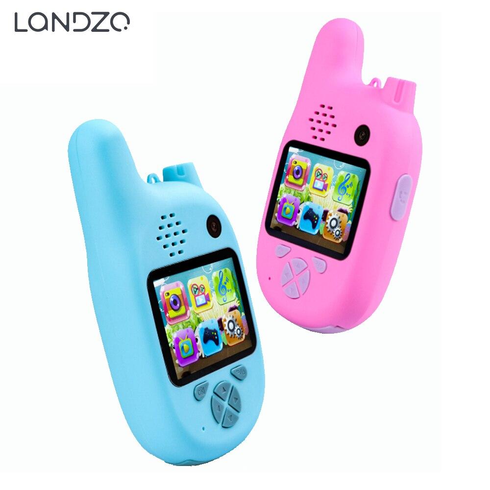 Landzo 1080P 8.0 Million Pixels Smart Digital Camera Walkie Talkie for Kids with VCR Mp3 Video Recorder Walkie Talkie    - AliExpress
