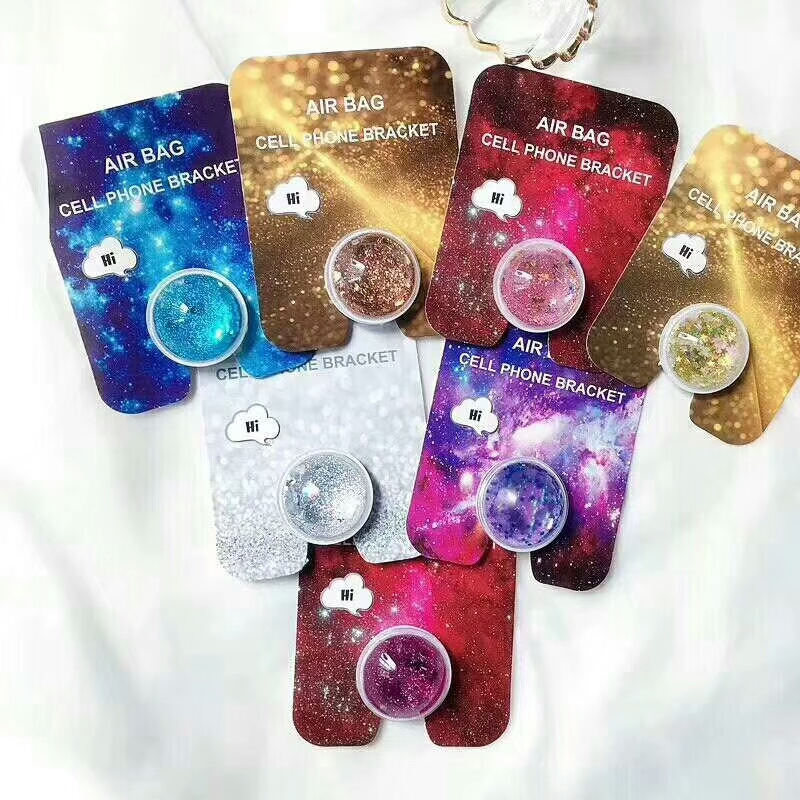 Glitter Phone Holder Socket Universal Stand Expanding Grip Stand And Fashion Quicksand Ring Holder Universal Phone Accessories