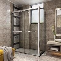 6 10mm 12mm High quality shower room door price/ tempered sliding glass shower door