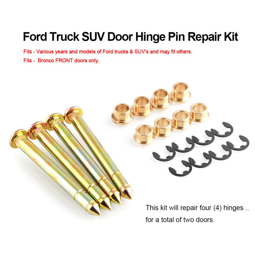 Fit for Ford F150 F250 F350 Bronco Pickup Truck Door Hinge Pins Repair Kit Set