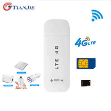 TianJie 3G/4G USB Беспроводной Wi-Fi роутер 4G LTE/FDD Автомобильный USB модем Мини Wi-Fi Флешка sim-карта для передачи данных Мобильная точка доступа Модем Ключ