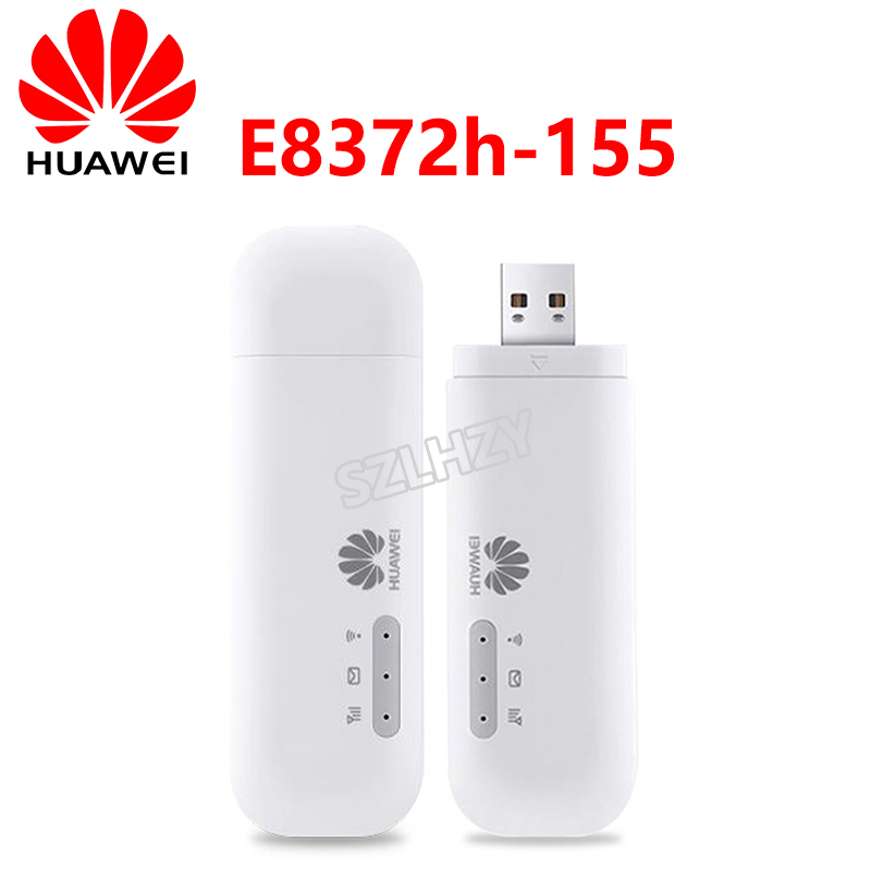 Unlocked Huawei E8372 E8372h-153 E8372h-608 E8372h-155 4G LTE USB Wingle Universal 4G 150mbps USB WiFi Modem Router PK E3372