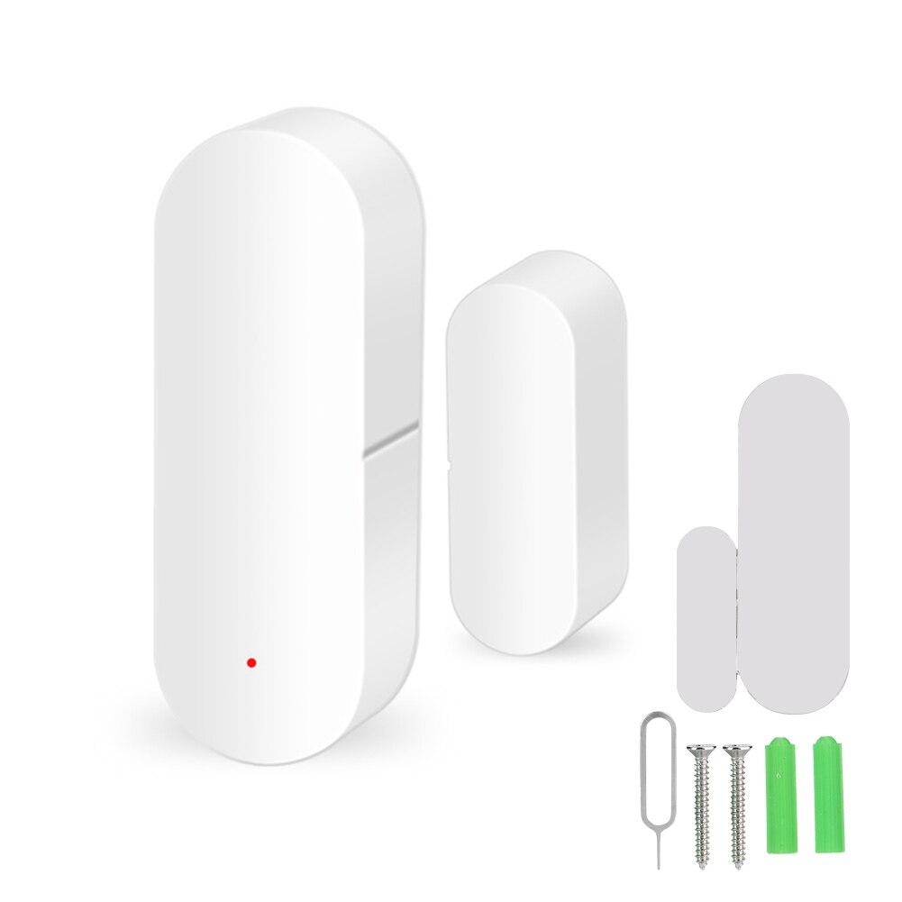 Wireless Smart 2.4G WiFi Door Window Sensor Magnetic Strip Detectors Voice Control For Google Home For Tuya