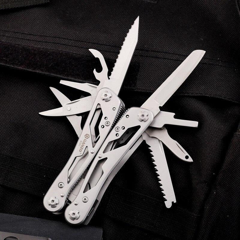 Ganzo Knife Multi Tool Plier Folding Tools G202 G202B Multitools Outdoor Camping Fishing Suvivial Knives EDC Scredriver Bits