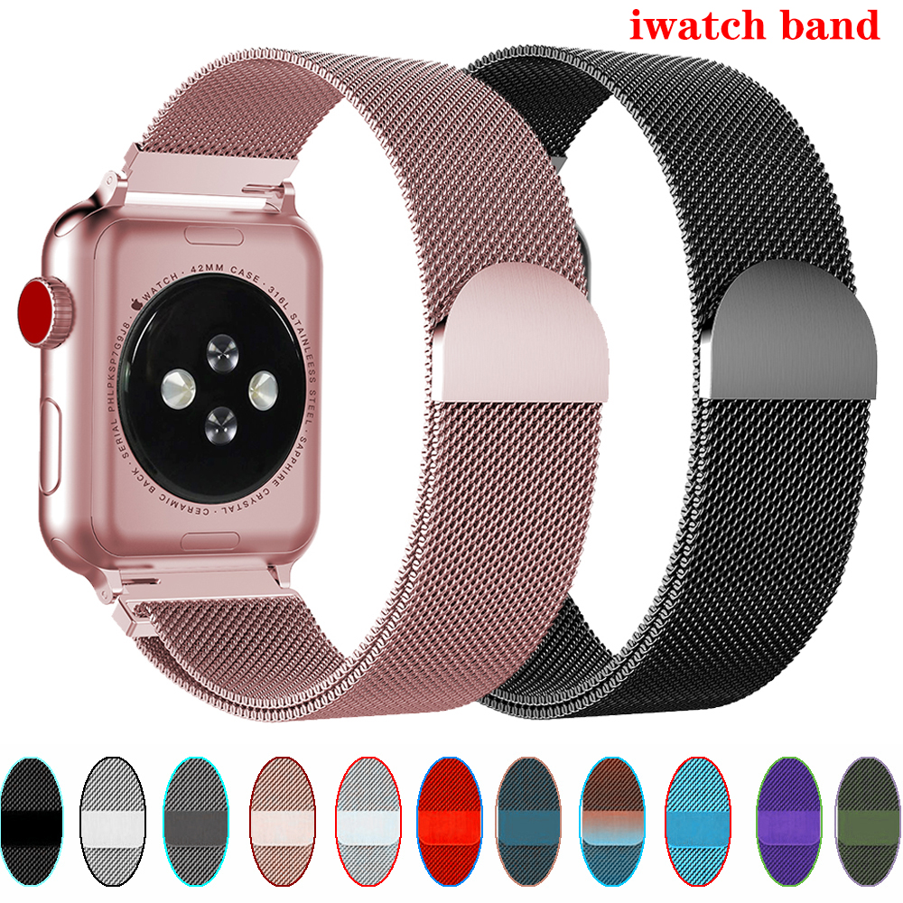 Milanese Loop Strap For Apple Watch Band 44 Mm 40mm IWatch Band 38 Mm 42mm Magnetic Buckle Bracelet Pulseira Apple Watch 5 3 4 2