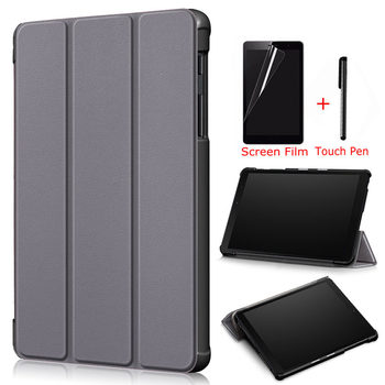 Magnetic PU Leather Case for Samsung Galaxy Tab A SM-P200 SM-P205 8.0 inch 2019 New Tablet Funda Capa Cover+Film+Pen - discount item  25% OFF Tablet Accessories