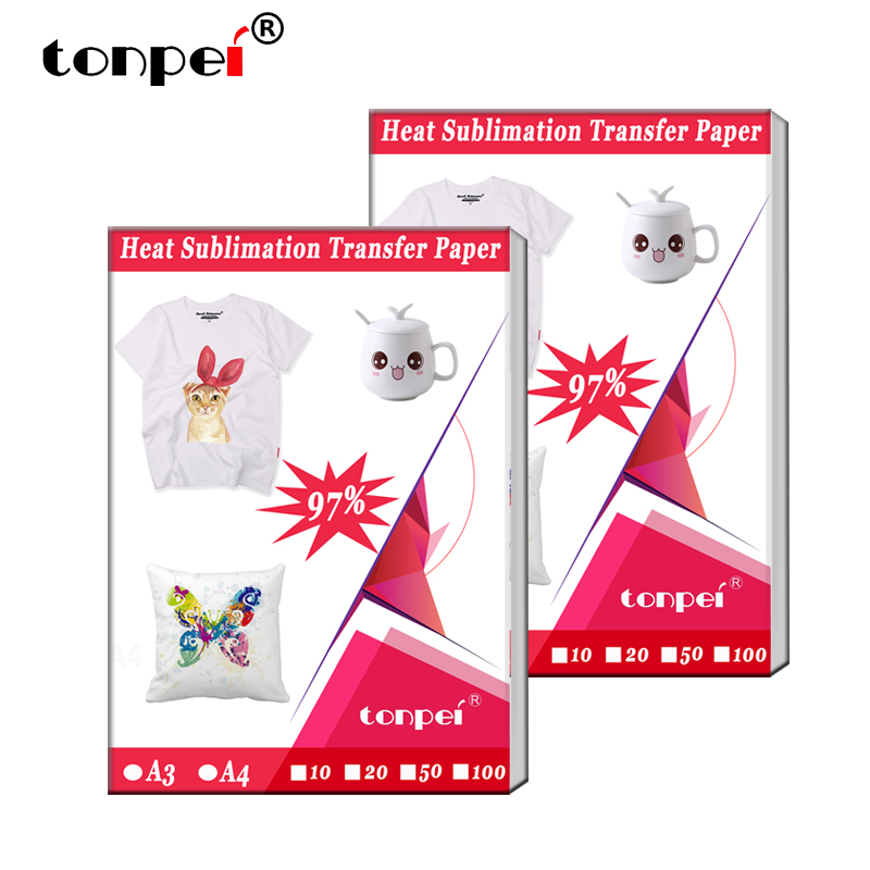 A3 A4 Heat Sublimation Transfer paper For Polyester T-Shirt Fabrics Cloth Phone Case Printing Design for Inkjet printers