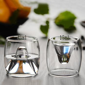 150ML zestaw do wina wódka Hip Flask butelka 15ML 45ML pozytywny i negatywny Spirit Bar Home zestawy barowe Pot wino Sake Hip Flask i kubek tanie i dobre opinie OLOEY Szkło Ekologiczne BS815 CE UE Lfgb Bar sets wine pot bottle cup glass Lead-free glass excellent Silicone ring Hip flask 150ml wine glass (15 45ml)