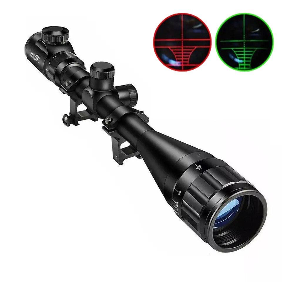 Onl 6X24X50 Aoe Optische Rifle Scope Jacht Licht Tactische Airsoft Scope Richtkruis Verstelbare Green Red Dot lunetas Para Rifle