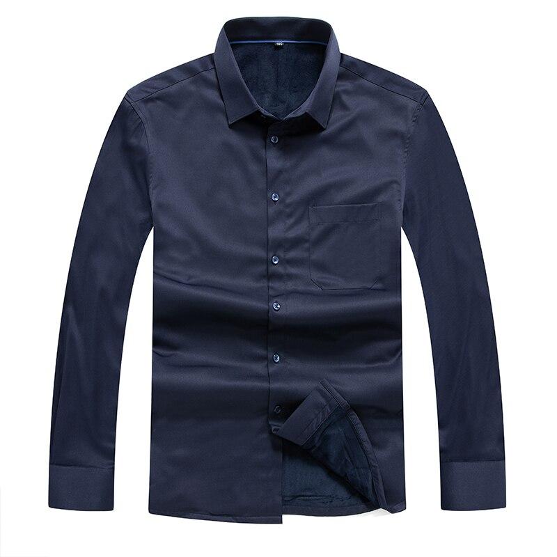 New Big Size Arrival Casual Winter Cashmere Warm Men's Shirt Fashion Thick Shirt Men  Plus-size 8XL 7XL 6XL 5XL 4XL