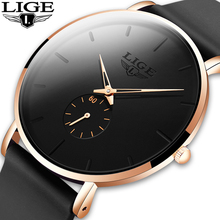 LIGE New Fashion Mens Watches Top Brand Luxury Sport Waterproof Simple Ultra-Thi