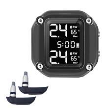 Автоматическая сигнализация ЖК-дисплей цифровой Экран мотор шин Давление внешний внутренний монитор Сенсор шин Давление монитор