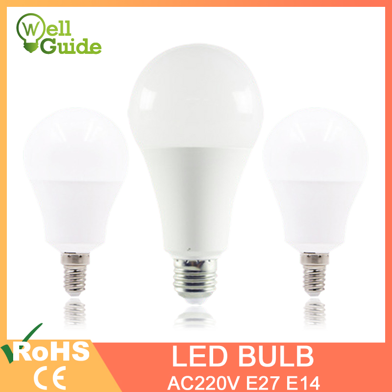 <font><b>LED</b></font> <font><b>Bulb</b></font> <font><b>LED</b></font> <font><b>Lamps</b></font> E27 <font><b>E14</b></font> Real 3W 6W 9W 12W 15W 18W 20W AC 220V 230V 240V lampara Aluminum Table <font><b>lamp</b></font> <font><b>Lamps</b></font> light Bombillas image