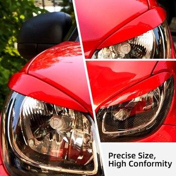 2pcs Sobrancelha Carro Para Smart Fortwo Forfour 453 2015-2019 Farol Da Pálpebra Etiqueta Farol Capa Guarnição Adesivo de Carro Car Styling