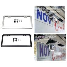 Рамка для номерного знака, держатель для крышки, только для американской Канады, автомобиль из нержавеющей стали, для авто, грузовиков, транспортных средств, декоративный