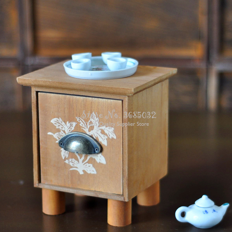 Mini Tea Table Set Photography Props Easy Install Studio Tool Take Photos Newborn Baby Geometric Pattern Chair Decoration Infant