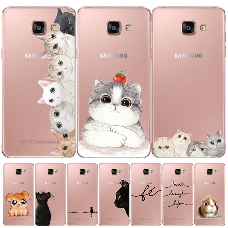 Silicone Case For Samsung Galaxy A5 <font><b>2017</b></font> 2016 A520 A510 F Case <font><b>5</b></font>.2