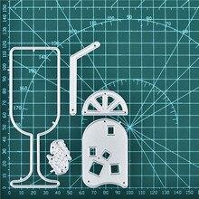 Naifumodo Lemon Drink Cup Metal Cutting Dies Scrapbooking Craft Stencil Album Embossing Card Making Die Cut New