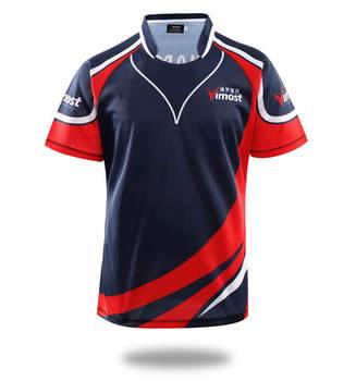 Vimost czerwony czarny kolor Rugby Jersey nazwa osobista personalizacja odzież sportowa odzież sportowa mocne koszule do szycia tanie i dobre opinie Vimost Sports Krótki CN (pochodzenie) Poliester Koszulki Sublimation No Color Fading