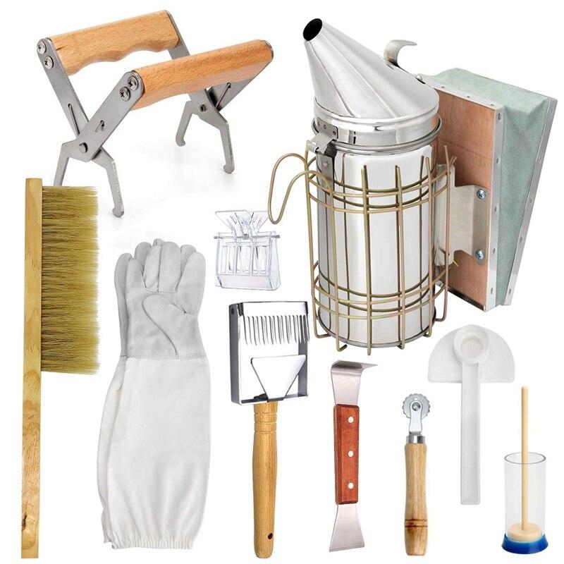 Beekeeping Honey Tool Kit Beekeeping Starter Kit Set Of 10 Beekeeping Equipment Supplies