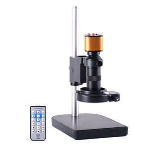 16MP Stereo Digital USB Industrial Microscope Camera 150X Electronic Video C-mount Lens Stand for PCB THT Soldering