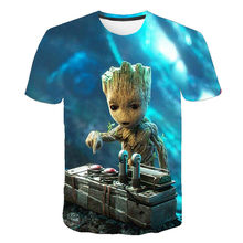 Boys and girls 3D short-sleeved T-shirt personality cool shirt children's summer clothing street T-shirt animated T-shirt