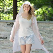 Hooded Raincoat Unisex Waterproof Rainwear Adult Hiking Rain Gear Coat Hood Transparent EVA Outdoor Mantle