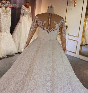 Image 5 - Luxe 2 in 1 trouwjurk full lace mermaid trouwjurk met afneembare rok